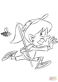 running from a bee coloring page free printable coloring pages