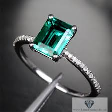 emerald engagement rings images Emerald cut emerald engagement ring 2 35 ct white gold diamond jpg