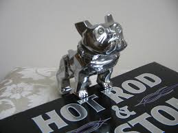 vintage mack truck bulldog ornament 87931 chrome rod rat