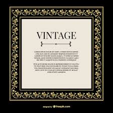 vintage gold ornaments frame free vector 123freevectors