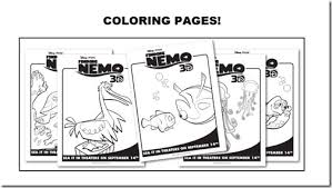 finding nemo 3d theaters 9 14 review coloring sheets u0026 activity