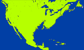 Blank Map Of The Americas by Image Coloured Blank Map Of Flooded North America Png