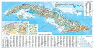 Map Cuba Cuba Wall Map Central And Southamerica Wall Maps