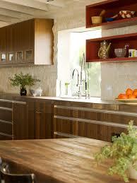 stone backsplash ideas kitchen midcentury with kitchen hardware