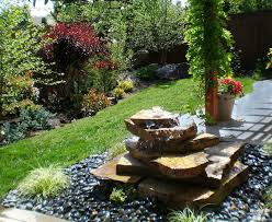 Rock Fountains For Garden Stacked Rock Contemporary Landscape Boise By The