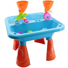 Toddler Water Table Spinning Wheel Sand U0026 Water Table With Accessories In Blue Or Pink