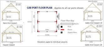 Car Port Plans Carports Oak Frame Carport Kit Style Diy