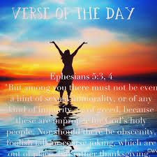 verse of the day ephesians 5 3 4 niv