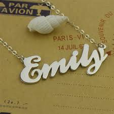 cheap name necklaces cursive name necklace 925 sterling silver name necklace