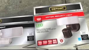 Defiant Degree Outdoor White Led Blade Motion Security Light - defiant led switch light and motion security light youtube