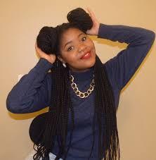 playful box braids double bun hairstyles blackhairlab com
