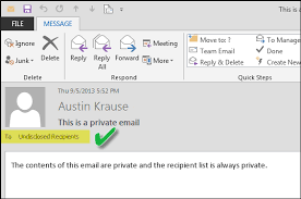 If You Blind Copy Someone Can They Reply All Make Outlook Appear To Send Emails To Undisclosed Recipients