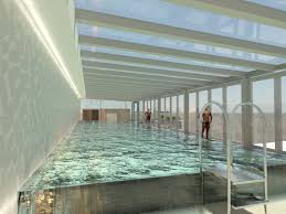 Open Bathroom Concept by Budnews New Hotel Opens In Budapest With A Glass Walled Swimming
