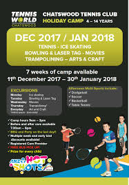 holiday camps for 4 14 years at tennis world chatswood