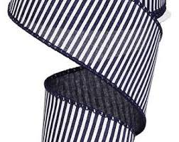 navy blue and white striped ribbon navy blue white striped ribbon 1 5 wide by the yard weddings