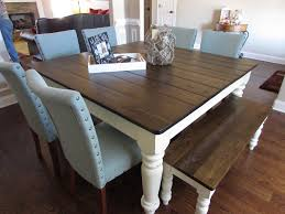 square dining table with bench farmhouse table with bench home plans
