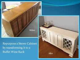 Repurposed Stereo Cabinet Repurposed Stereo Cabinet Wine Rack Buffet For The Home Pinterest