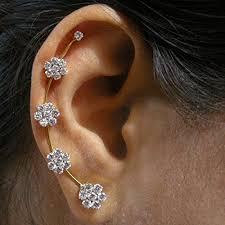 ear cuffs online shopping buy ashiana exclusive ethnic american diamond nakshatra ear cuff