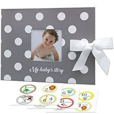 baby album baby memory book monthly stickers gift box