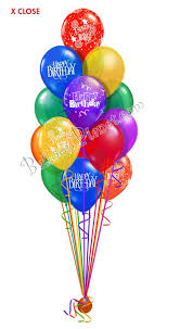 birthday delivery 60 balloon salute birthday balloon bouquets 60 balloons