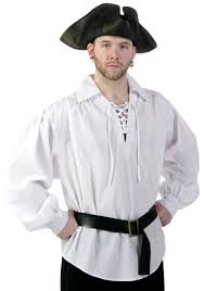 authentic halloween costumes for adults white classic pirate shirt authentic pirate halloween costumes