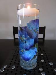 blue wedding candle centerpiece ipunya
