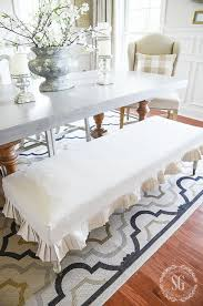 Slipcovers From Drop Cloths Easy Dropcloth Bench Slipcover Stonegable