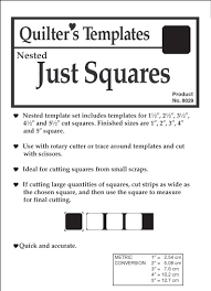 from marti michell just squares nested template set