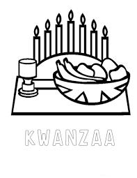Kwanzaa Decorations Holiday Coloring Pages Christmas Hanukkah And Kwanzaa