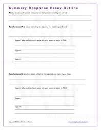 response essay outline summary response essay outline writing tools