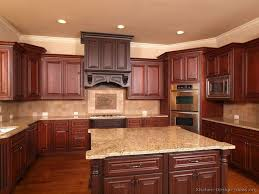 Kitchen Idea Of The Day TwoTone Kitchens In Traditional Homes - Pictures of kitchens with cherry cabinets