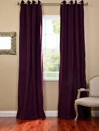Purple Drapes Or Curtains Eggplant Grommet Velvet Blackout Curtains Drapes