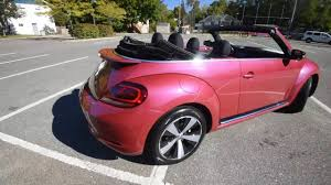 light pink volkswagen beetle brand new 2017 volkswagen pinkbeetle convertible walk around
