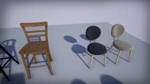 modern chairs pack by myanimrig in architectural visualization