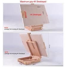 art supply artist wood tabletop desk sketch box french easel