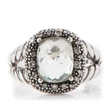 10mm diamond david yurman sterling silver diamond prasiolite 10mm moonlight