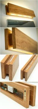 handmade oak wooden sconce wooden walls and smooth