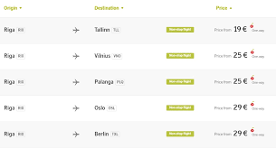 airbaltic last minute deals tickets from 19 travelfree