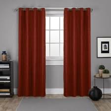 Orange Thermal Curtains Modern Orange Curtains Drapes Allmodern