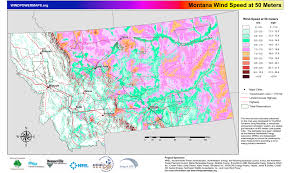 Map Of Montana by Montana Wind Resources