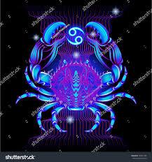neon signs zodiac cancer stock vector 189441386 shutterstock