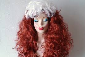 wigs for halloween cosplay wig long curly auburn red hair white hair wig