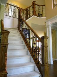 Banister Handrail Wood Stairs And Rails And Iron Balusters Iron Balusters Box