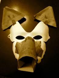 Wolf Mask Diy Papier Mâché Wolf Mask Melicreative