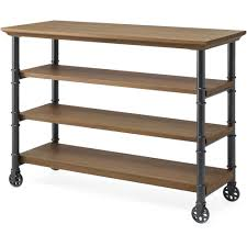 kitchen islands with wine rack whalen santa fe portable kitchen cart with wine rack rustic brown