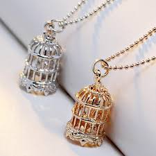 necklace trendy images Exquisite trendy bird cage necklaces pendant for men women jpg