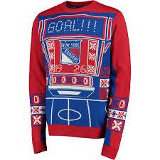men u0027s new york rangers klew blue red light up ugly sweater shop