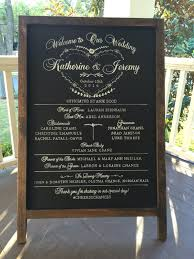 chalkboard wedding program custom designed rustic framed 24x36 wedding program chalkboard easel