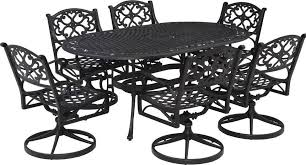 Biscayne Patio Furniture by Home Styles Biscayne 7 Piece Outdoor Dining Set With Swivel Arm