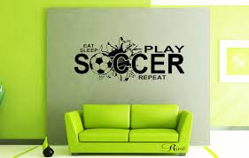 sleep play soccer wall art vinyl decal soccer decals